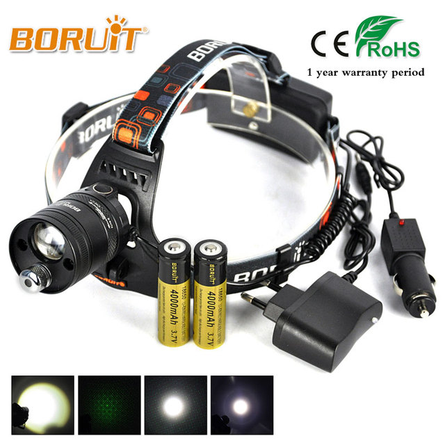 BORUIT Merk High Power Groene Laser Hoofd Torch Beam LTS LED Lamp 3 ...