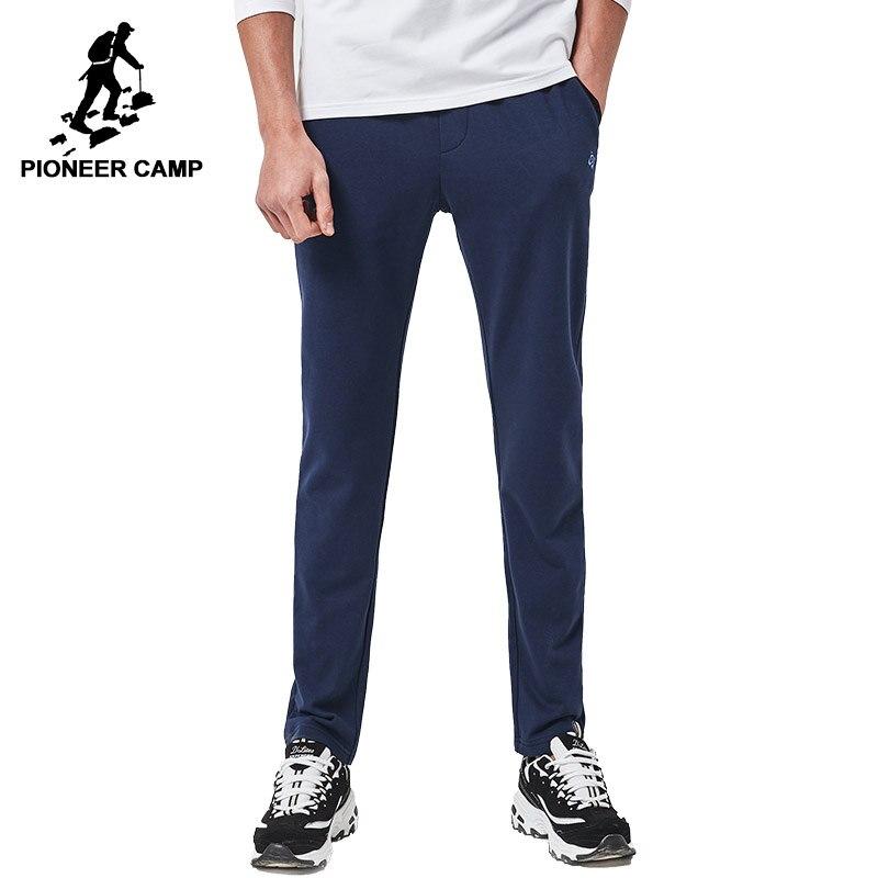 Camp pionnier Nouvelle arrivée Printemps casual pantalon hommes marque vêtements sweat pantalon mâle top qualité pantalon bleu profond gris AZZ701003