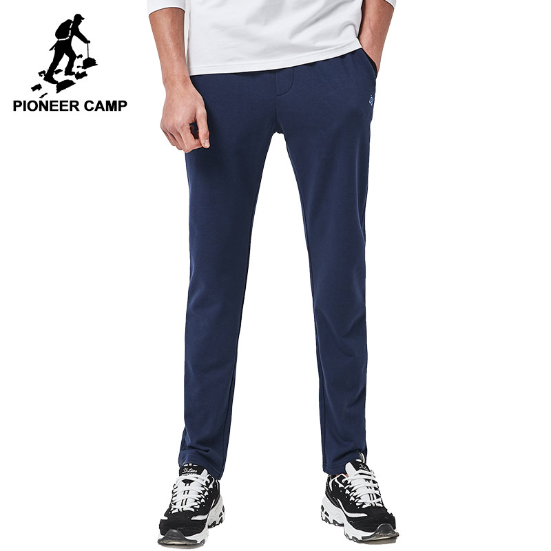 Pioneer Camp New arrival Spring casual pants men brand clothing sweat pants male top quality trousers deep blue grey AZZ701003