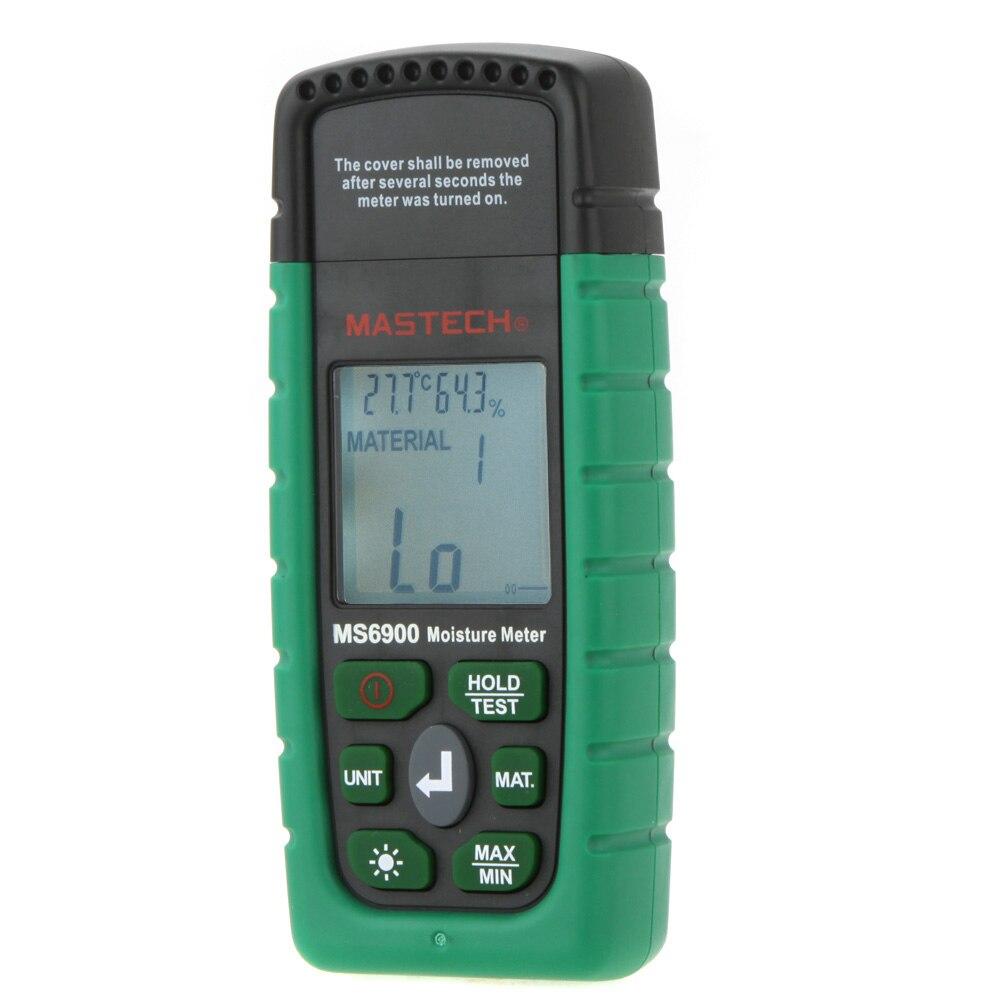 Mastech MS6900 higrometre Мини цифровой измеритель влажности дерево/пиломатериалы/бетонные здания влажность тестер с ЖК дисплей