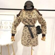 Otoño Invierno de las mujeres suéter mujer Sexy de manga larga de piel con  flecos de 6966e2ea55b9