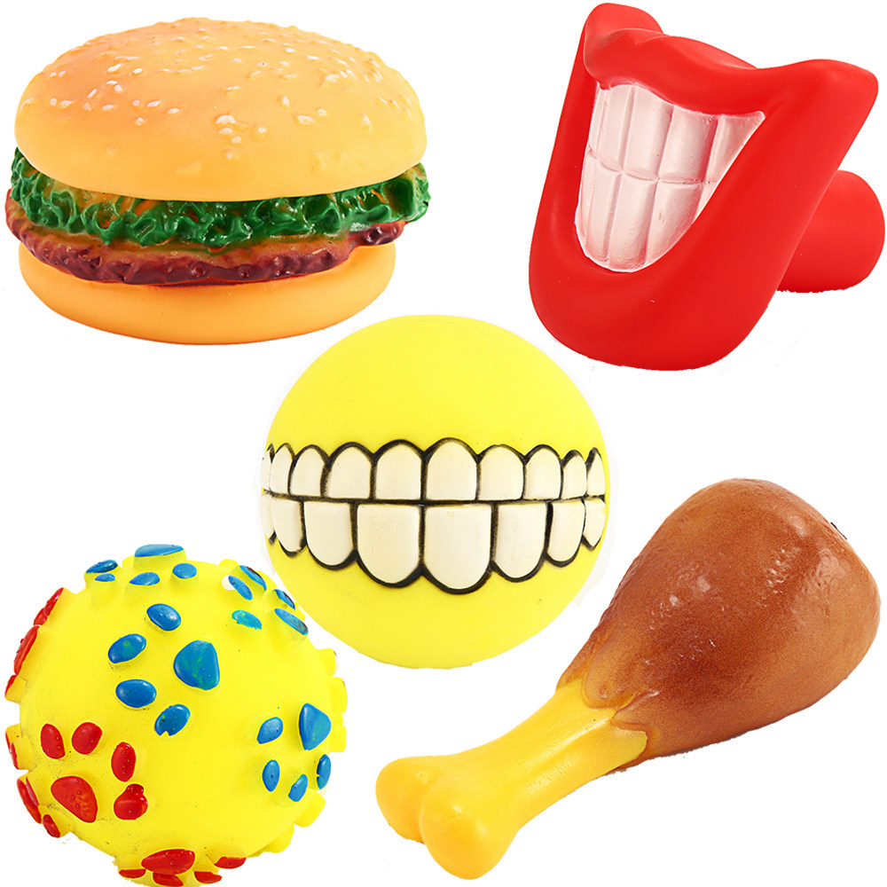 Dog Toys Squeaking Pet Chew Toy Screaming Dogs Toys Games Interactive Burger Toy Ball For Dogs All Seasons Pet Products HZ0002