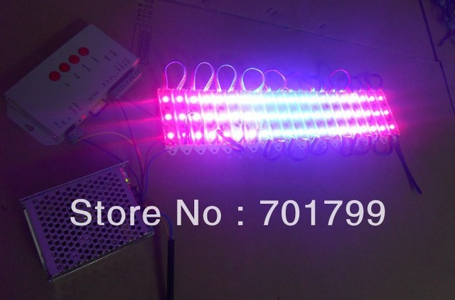 60pcs 12V WS2811 SMD pixel module+T-1000S sd card controller+12V/60W power supp