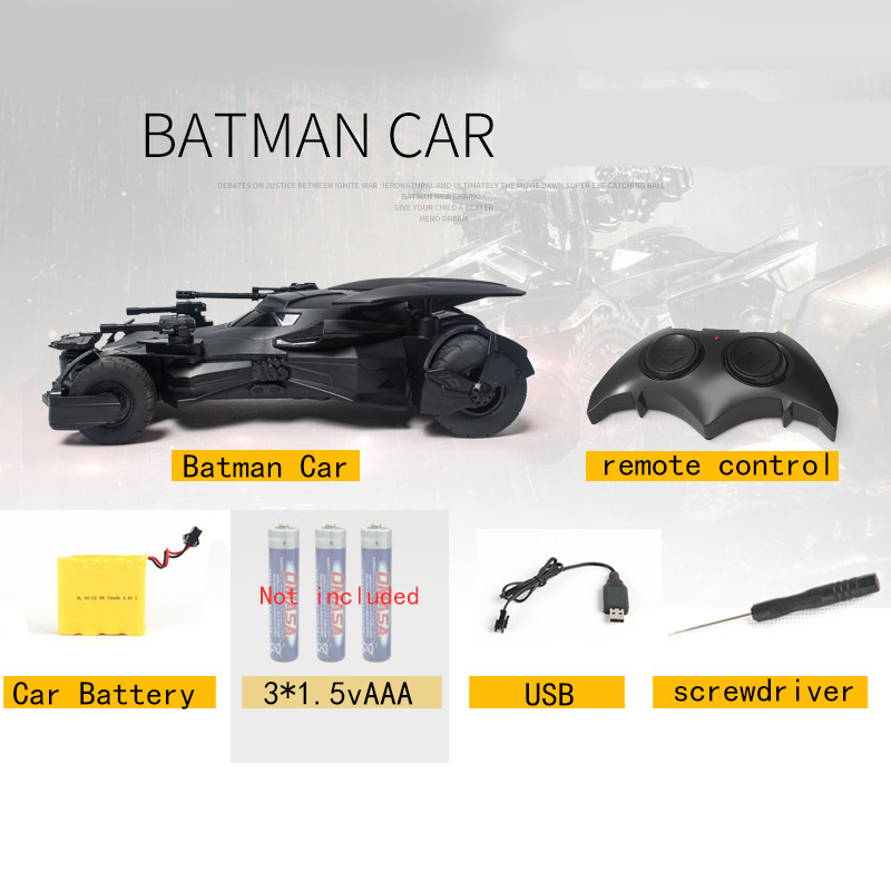 Batman RC Car 1:18 Kids Toy Gifts Recargable 2.4 GHz Control remoto - Juguetes con control remoto - foto 4
