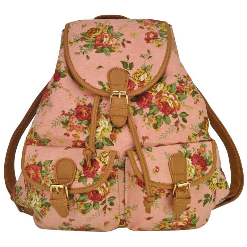 women canvas backpack cute printing cute backpacks school bags for teenage girls floral backpack