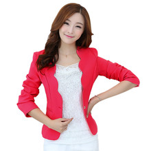 Women Blazers And Jackets 2017 New Fashion Candy Color Long Sleeve Slim Ladies Blazers Jackets Suit Jacket Women's Blazers Femme