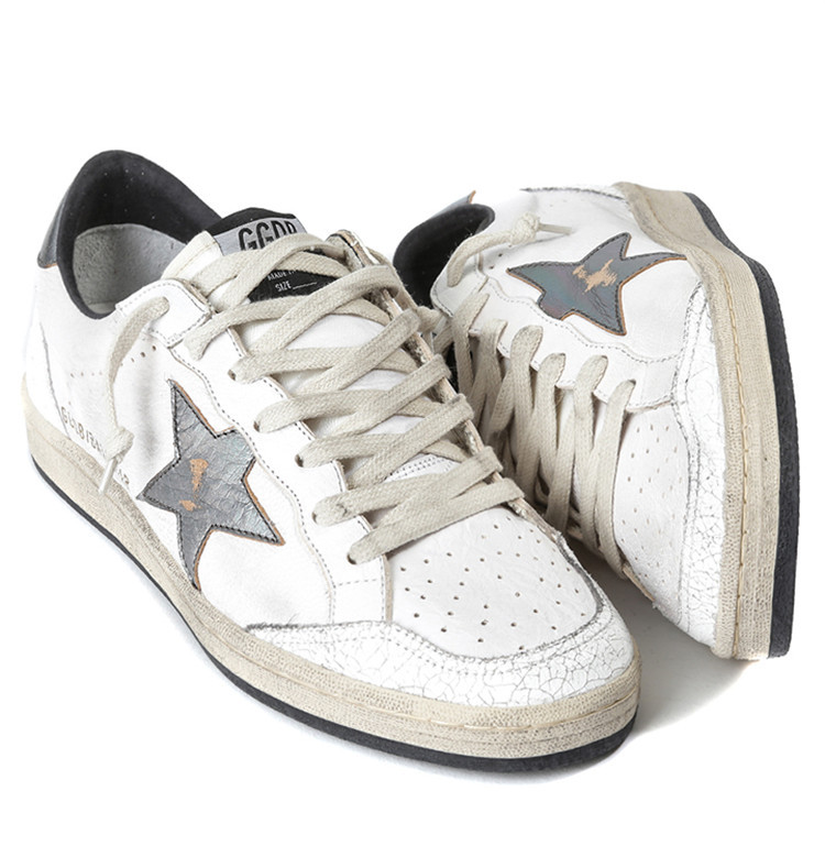 c199d0bcefd50 2015 Golden Goose womens catwalk mens MID STAR GGDB BALL STAR white francy  Canvas shoes Genuine Leather Breathable sneakers