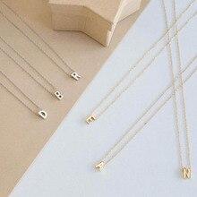 Ожерелье-ошейник с буквами модное крошечное Золотое Оригинальное персонализированное металлическое ожерелье для женщин Серебряный цвет кулон воротник ювелирные изделия
