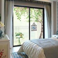 חלון זכוכית מדבקה אטום אטום דלת זכוכית חדר שינה דקורטיבי לסכל חלון נייר מדבקות חלון קטן טרי