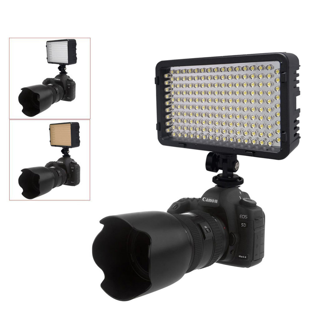 Mcoplus 260 LED Video Camera Light Photo Studio Lighting for Nikon Canon Sony Olympus Panasonic & DV Camcorder mcoplus 322 led photo studio video light for canon nikon panasonic pentax samsung olympus