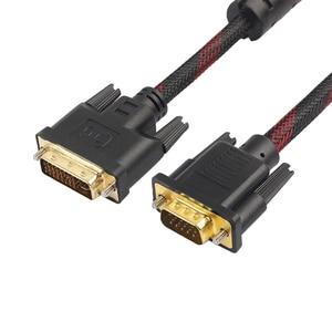 Image 4 - 1,4 м DVI папа VGA Мужской кабель DVI I 24 + 5 поворот к VGA подключение провода шнур DVI I к VGA видео Линия для HDTV DVD ноутбук