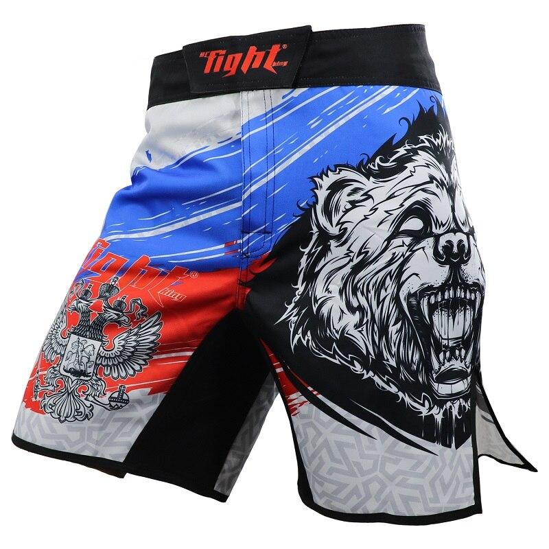 Homens Calças Calções de Boxe MMA Calções De Boxe Troncos Homem Mau Luta Jiu Jitsu Muay Thai calções Tiger Muay Thai Calças Fina calções de treino