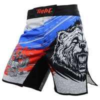 Männer MMA Shorts Boxing Trunks Schlechte Mann Kampf Shorts Boxen Hosen Jiu Jitsu Tiger Muay Thai Hosen Dünne Muay Thai training Shorts