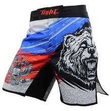 Мужские шорты для ММА боксерские трусы Bad Man шорты для боевых искусств боксерские трусы Jiu Jitsu трикотажные изделия Тайгер Муай Тай брюки тонкие Муай Тай тренировочные шорты