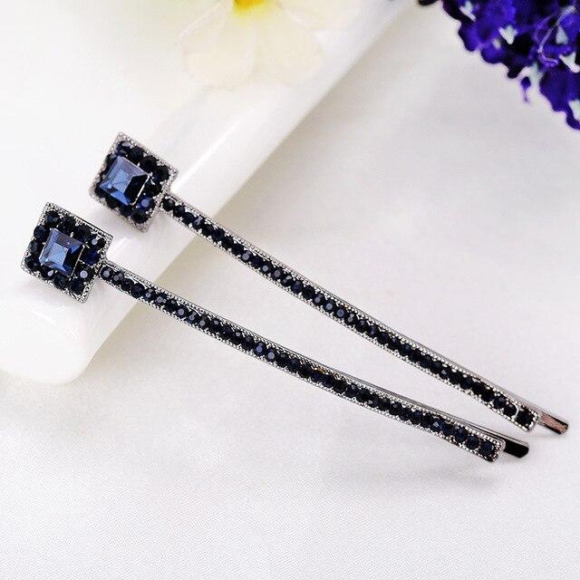 1 Pair Korean Fashion Hair Accessories Hairpins Diamante Hairclips Luxury  Square Crystal Rhinestone Hair Clip Barrette For Women e73104198326