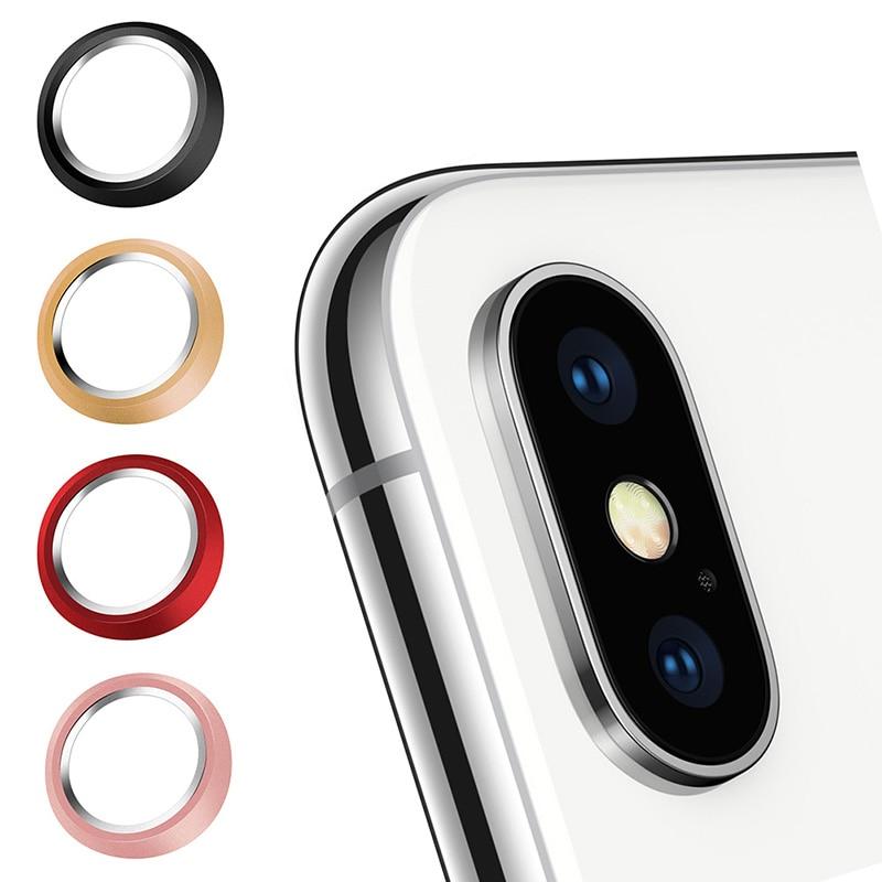 Metal Rear Camera Lens Ring Guard Circle Cover Lens Protector Bumper Case for iPhone 7 Plus/ 8 Plus X Gadgets Pakistan