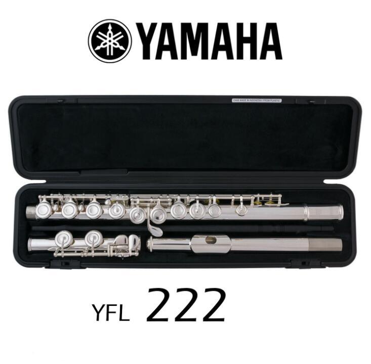 Оригинальный 1/коробка Флейта YFL 222 музыкальный инструмент Посеребренная флейта 16 закрытых отверстий мелодия и E Key флейта