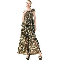 POKWAI Casual Summer Women Floral Sets 2018 New Short Sleeve Slash Neck Short Shirt Top Elastic Waist Ankle Length Draped Pants
