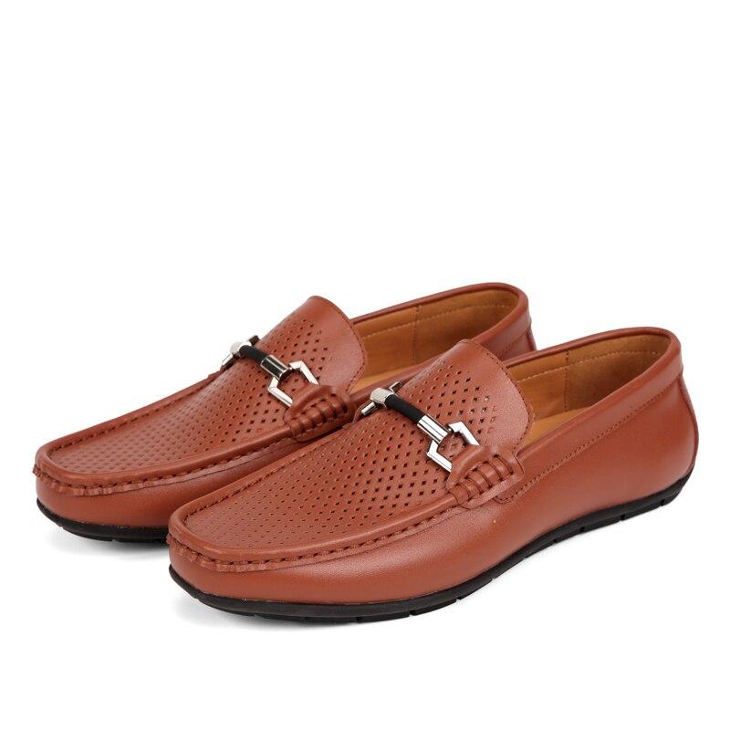 Confort Del brown Black Conducción Zapatos 6218 Verano Ocasionales Los Hombres Grandes Masculino Cuero De Niza Sapatos Mocasines Frijol Hx8qwSnO