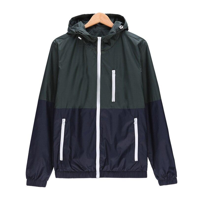 Marque clothing hommes veste manteau mâle veste avec capuche séchage rapide coupe-vent survêtement hommes vestes et manteaux hommes vêtements