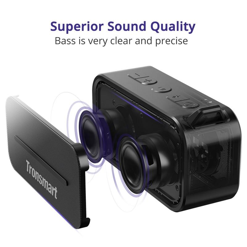 Tronsmart elemento T2 Altavoz Bluetooth 4,2 al aire libre resistente al agua altavoz portátil altavoz y Mini altavoz con Micro SD - 3