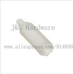 M2 Spacers PCB Standoff Nylon Screw Hex Nut Black / Off-White Male to Female Plastic Parts