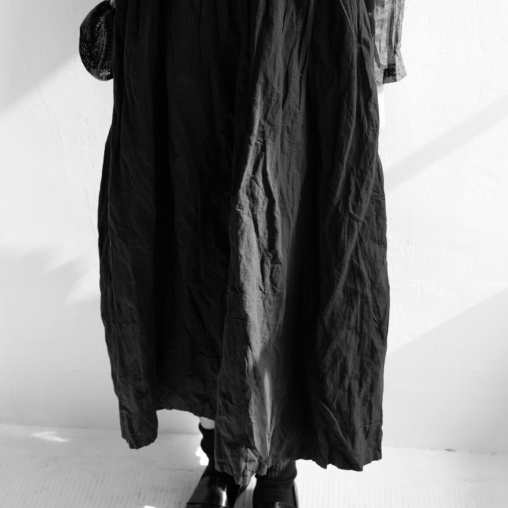 Robes perméable Spliced Vent Longues Plissé Semi À Noir Manches Foncé m0nyv8OPNw