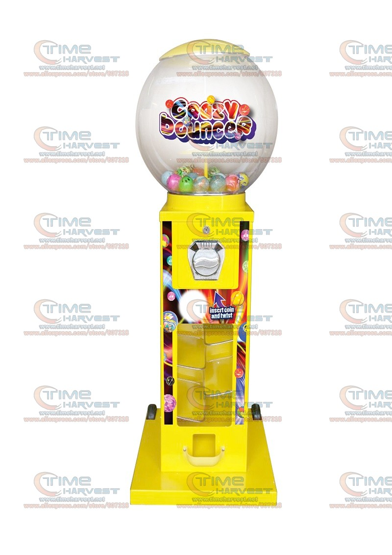 High Quality Coin operated Slot Machine for Candy Vendor Big Capsule Upright Vending Machine Bulk penny-in-the-slot Coin Vendor good quality coin operated tabletop gumball vending machine desktop capsule vending cabinet toy penny in the slot coin vendor