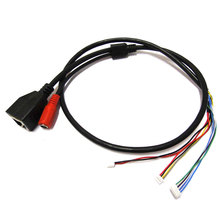 2pcs IP POE LAN cable for CCTV IP camera board module special for POE Mid-Span 4/5(+) 7/8(-) power supply