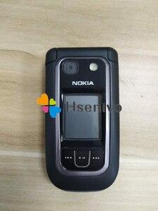 Image 2 - هاتف نقال 100% أصلي غير مقفول من Nokia 6267 Filp هاتف رباعي الموجات لوحة مفاتيح روسية مجددة شحن مجاني