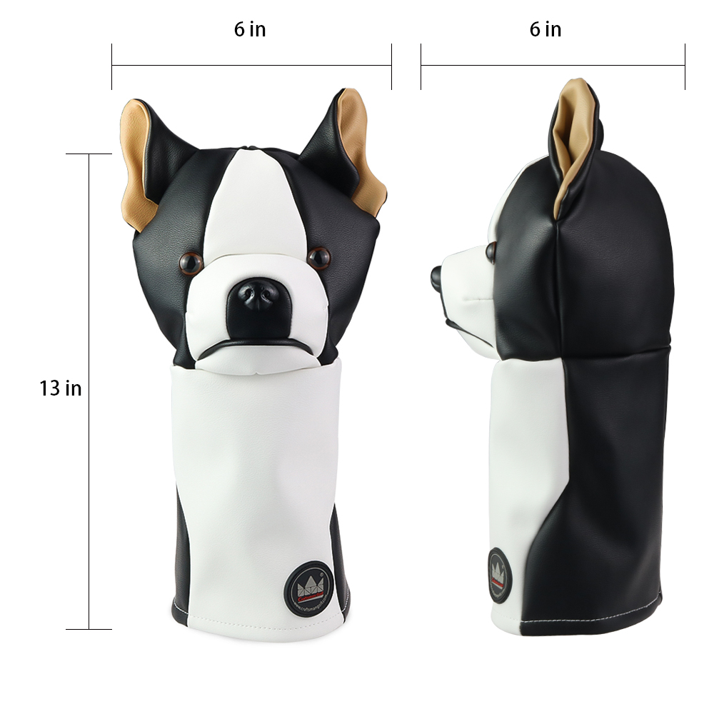 Image 4 - Craftsman Golf Driver Animal Headcover Dachshund/Bulldog/Sloth 460cc Driver Cover for Clubs Wood Cover PU Leather FREE SHIPPING-in Golf Clubs from Sports & Entertainment