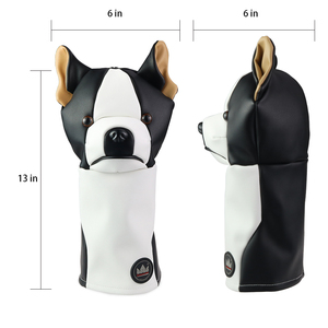 Image 4 - Craftsman Golf Driver Animal Headcover Dachshund/Bulldog/Sloth 460cc Driver Cover for Clubs Wood Cover PU Leather