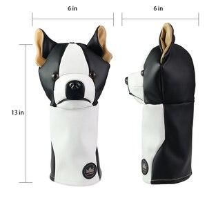 Image 4 - Cubierta de cabeza de Animal para Conductor de Golf Craftsman, cubierta para Conductor de Golf con perro salchicha/Bulldog/perezoso de 460cc, cubierta de madera para palos, cubierta de cuero de PU