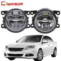 Cawanerl For Renault Latitude Saloon L70 2011 2015 Car Styling LED Lamp Fog Light 4000LM 6000K White DRL Daytime Running Light