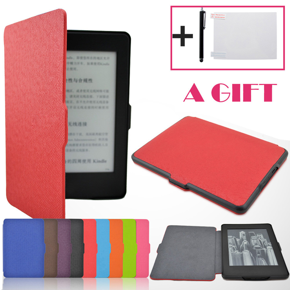 Magnetic Auto Sleep PU Leather Cover Case For  2016 Kindle Paperwhite (7th Generation) 6 inch +Free Gift Convenience 17Aug31