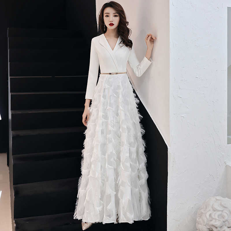 5b30a980ce5 ... weiyin 2019 White Evening Dresses Elegant Lace Evening Gowns Long  Formal Evening Dress Styles Women Prom ...