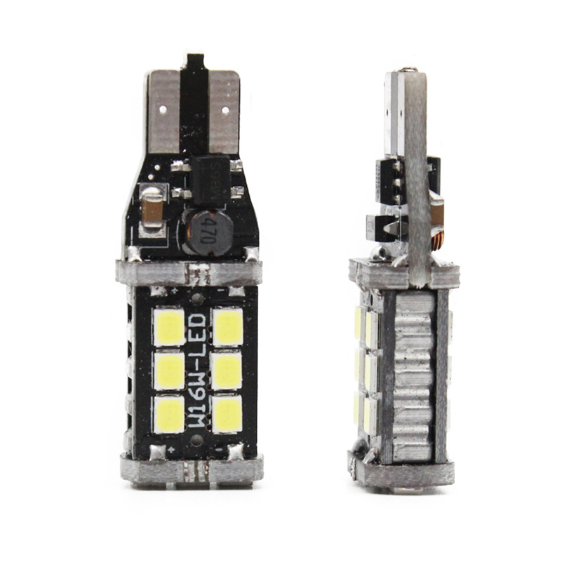 2x T15 W16W LED CANBUS 2835 Chip 15LED High Power Backup Backljus - Bilbelysning - Foto 4