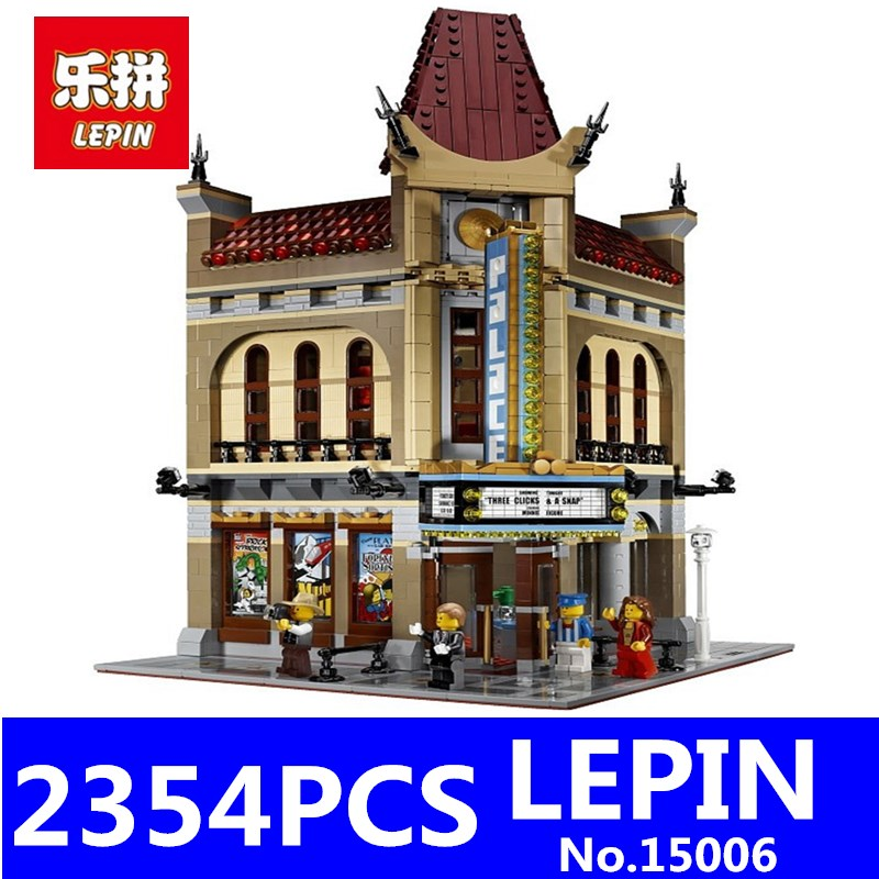 LEPIN 15006 2354Pcs Palace Cinema Model Building Blocks Classic Model City Street Creator Series Compatible 10232 Toys Christmas 5pcs set newborn cartoon set baby clothing long sleeve cotton baby rompers girls boys clothes suits infant costumes