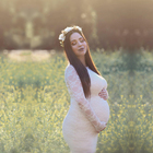Le Couple Maxi Lace Maternity Photography Dresses Long Sleeve Maternity Lace Gown Photo Shoot Stretchy Lace Pregnancy Dress