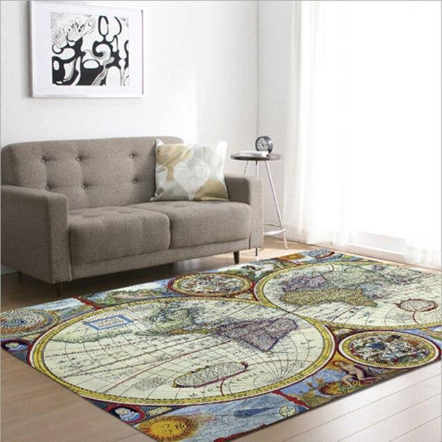 € 28.47 31% de réduction|Tapis de chambre à coucher de Style moderne de  tapis imprimés par carte du monde pour le salon Tapete antidérapant décor  de ...