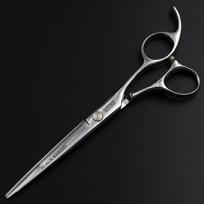 Cavaleiro negro 6.5 Polegada Humano de Cabeleireiro Tesoura Barbeiro cabelo Tesoura De Corte Tesouras Profissionais do animal de estimação & Dogs & Cats
