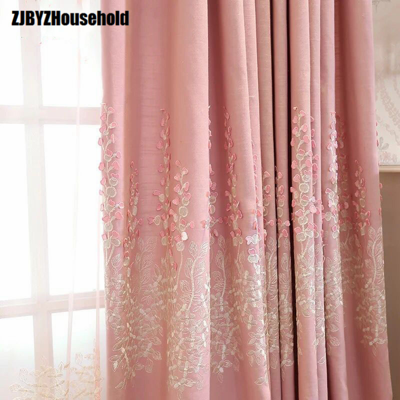 European Style Living Room Balcony Window Gauze Shade Relief Shading Curtain Embroidered Products