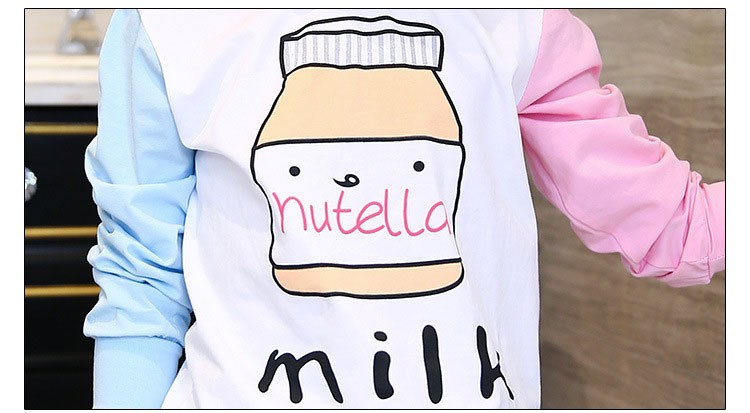 little teenage girls t-shirt character girls tops blue white pink patchwork tees girl tshirt 2016 spring autumn kids clothes  6 7 8 9 10 11 12 13 14 15 16 years old big little teenage girls long sleeve t-shirts children clothing (12)