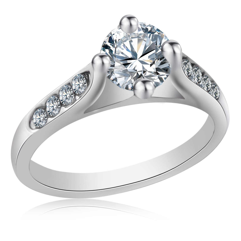 ชุบเงิน925เครื่องประดับเสน่ห์คนรักแหวนBagueเด็กหญิงเงินคริสตัลแหวนแต่งงานสำหรับผู้หญิงAnillos Mujer Anel