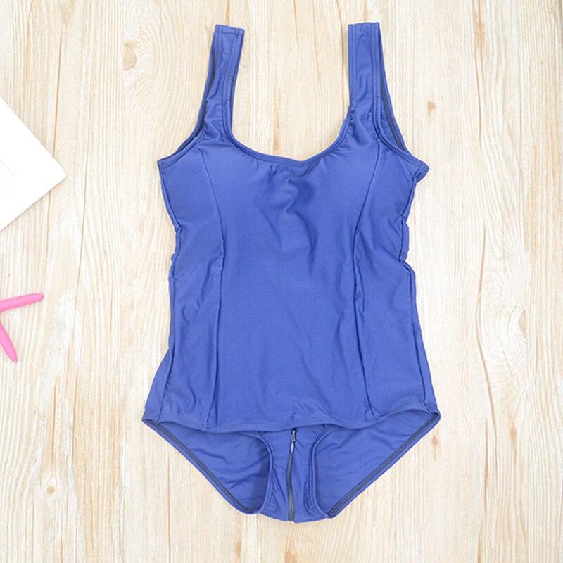 Японский купальник Sukumizu школьный Косплей цельный школьный купальник цельный на молнии B Женский плечевой ремень - Цвет: Синий