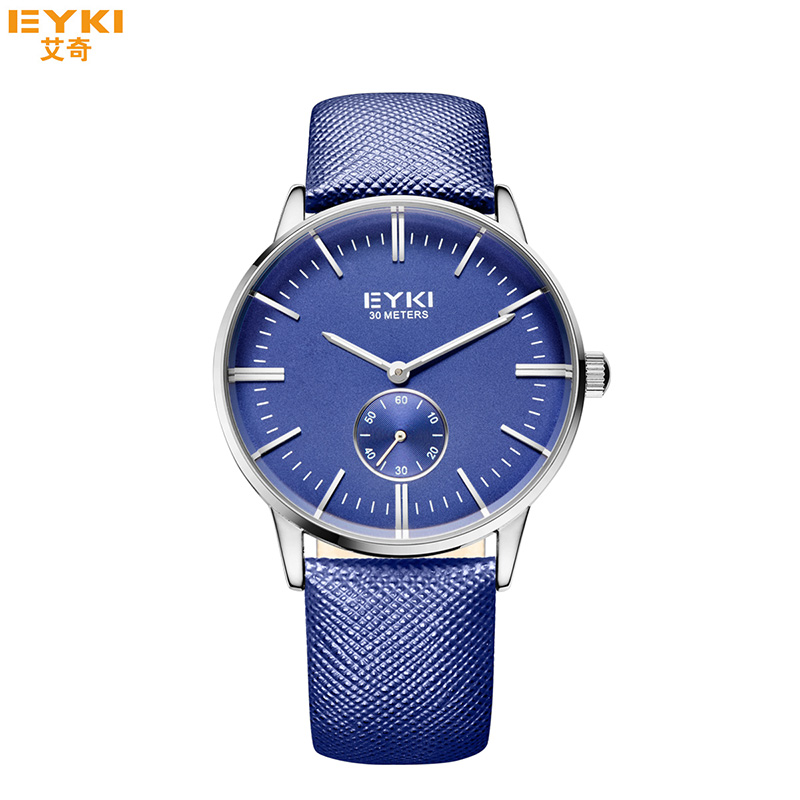 EYKI Blue Mens Watch Fashion Casual Quartz Watches Luxury Brand Waterproof Business Men Clock with Gift Box relogio masculino new listing men watch luxury brand watches quartz clock fashion leather belts watch cheap sports wristwatch relogio male gift