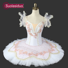 White Swan Lake Ballet Tutu Professional Stage Costumes Classical Performance Clothes Nutcracker SD0017