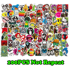 100 Pcs Mixed Stickers for Luggage Laptop Decal Toys Bike Car Motorcycle Phone Snowboard Funny Doodle Cool DIY Sticker For Gift 55pcs mixed retro style travel hotel logo roma paris los japan chicago hawaii baghdad trip car sticker waterproof doodle decal