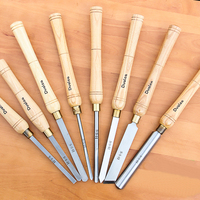 8PCS HSS Wooden Turning Chisel Tools SET with High Speed Steel Blade & Ashtree Handle in Bag
