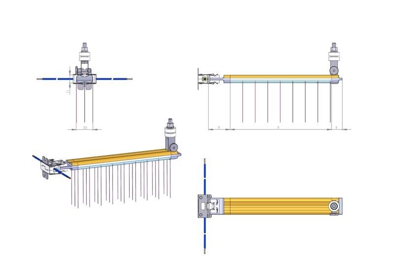 Купить с кэшбэком gold layer reflector short wave IR emitters halogen twin tube heater quartz heating elements infrared lamps